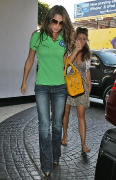 Cheryl Cole Singer Cheryl Cole is seen leaving a music studio wearing a bright green polo shirt.