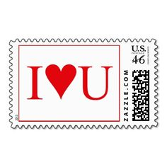 I Love You United States Postage Stamp Design from Text Me