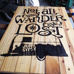 Junk Gypsy's stenciled a fave saying with custom art to create custom wall decor.