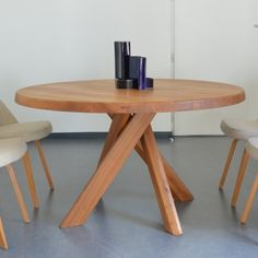 Located using retrostart.com > T21b Dining Table by Pierre Chapo for Chapo
