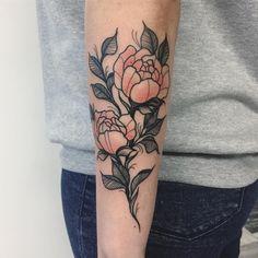 Floral tattoo by Karolina Skulska