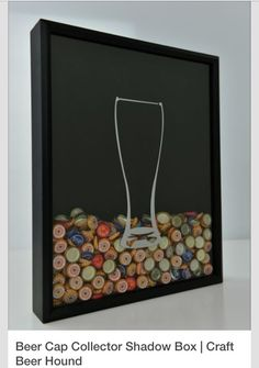 Shadow box for collecting and displaying bottle caps.