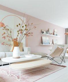30 Incredibly Charming Pink Living Room Design Ideas - Home Bigger Living Room Accessories, Home Decor Accessories, Living Room Designs, Living Room Decor, Home Decoracion, Lounge Decor, Best Interior Design, Design Interiors, Furniture Arrangement