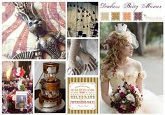 Carnival Steampunk Wedding Ideas Duchess Betty Manax