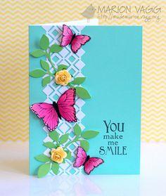 Such a pretty card. Love the flight of butterflies.