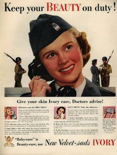 The ad is published in 1940s for IVORY SOAP. I am confident enough despite my lack of male parts!