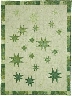 Stellar Evolution by Barbara Persing and Mary Hoover of 4th & 6th Designs in Quilters Newsletter October/November 2015