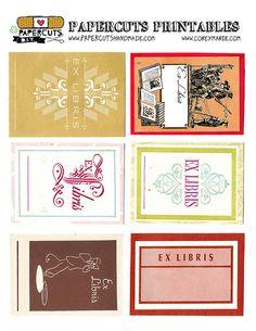 Free printable Ex Libris Labels