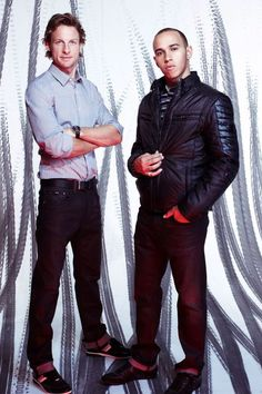 Jenson Button and Lewis Hamilton (F1 drivers)