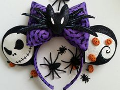 Hey, I found this really awesome Etsy listing at https://www.etsy.com/listing/242571716/nightmare-before-christmas-minnie-ears