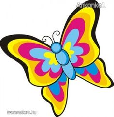 Pillangó ovis bölcsis jel vasalható matrica - Bölcsis, ovis jel