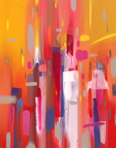 ARTFINDER: Summer Party by Jessica Bleasby - 'Summer party' is inspired by a longing for summer and all it has to bring. I wanted to use bright uplifting and warm colours, mainly pink, oranges and yello...
