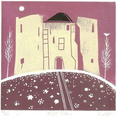 Clifford Tower Linocut York UK Original Limited Edition