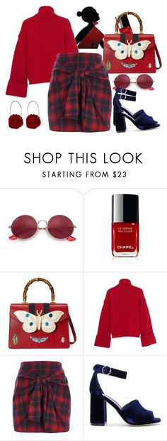 """Fall Trend"" by cpcrew on Polyvore featuring Ray-Ban, Gucci, Amanda Wakeley, River Island, Joie, Vjera Vilicnik, fashionblogger, stylist, the_best_from_cpcrew and redthursday Amanda Wakeley, Fall Trends, River Island, Ray Bans, Stylists, Gucci, Polyvore, Red, Image"