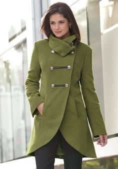 Plus Size Coat in Military Style