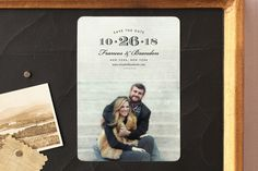 """""""Grand Central"""" - Simple, Full-Bleed Photo Save The Date Magnets in Midnight by toast & laurel."""