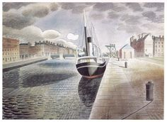 Pilot Boat at Le Havre Eric Ravilious 10 x 12 inch ready mounted print SUPERB | eBay