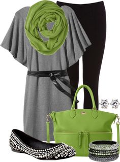 """""""Silver & Green"""" by addiemoore17 on Polyvore"""