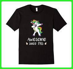 Mens Awesome Since 1943 T-Shirt Dab Unicorn 74th Birthday Gifts 2XL Black - Fantasy sci fi shirts (*Amazon Partner-Link)