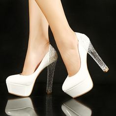 Cheap pumps high heel shoes, Buy Quality candy cell directly from China pumps with red bottoms New Sexy High heel Shoes Lady Nude Patent Leather Pump Glitter Clear Crystal High Heel Platform Stiletto Pump Sexy High Heels, High Heels For Prom, Frauen In High Heels, Prom Heels, Womens High Heels, Dream Shoes, Me Too Shoes, Zapatos Shoes, Romantic Weddings