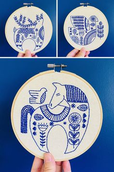 Modern and fresh embroidery patterns for a Scandinavian Christmas! The patterns use only simple stitches, so they're great for beginners.