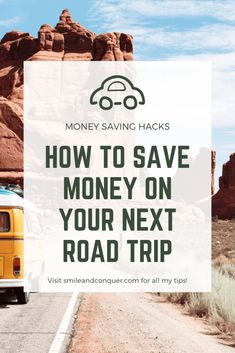 As a self proclaimed road tripping professional, I've gather up my favourite tips to save money on your next road trip. Travel Rewards, Travel Money, Budget Travel, Travel Tips, Cheap Travel, Travel Destinations, Ways To Save Money, Money Saving Tips, Living On A Budget
