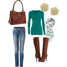 """Teal Casual"" by srbbrady on Polyvore"