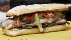Asian Flank Steak Sandwich available only Monday's at Mitchell Delicatessen // Nashville, TN