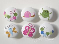 Spring Meadow Hand Painted Knobs / Nail Covers