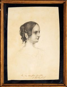 Charlotte Bronte Drawing