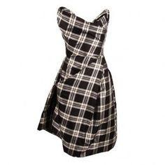 Vivienne Westwood Gold Label Trinket Corset Dress Black and White - Vivienne Westwood Dress from Hervia UK
