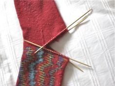 how to replace the heel in hand knit socks