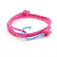 Pink Rope Blue Plated Hook http://enzokay.com/