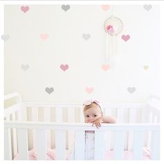 """Set of heart decals to get that """"wallpaper"""" look without the effort or expense! Quality removable vinyl wall art made in Australia. Removable Vinyl Wall Decals, Vinyl Wall Art, Girl Bedroom Designs, Little Girl Rooms, Wall Patterns, Diy For Girls, Baby Room Decor, Wallpaper, Effort"""