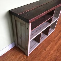 tev reclaimed distressed wood tv stand by