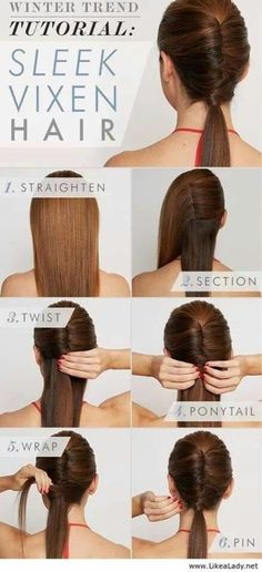 Fun sleek hair style