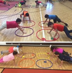 Hula Hoop PE Activity PE teacher Kash Aleem shares his fun and challenging activity called Four Square Hula Hoop!PE teacher Kash Aleem shares his fun and challenging activity called Four Square Hula Hoop! Physical Education Activities, Elementary Physical Education, Elementary Pe, Pe Activities, Health And Physical Education, Gross Motor Activities, Activity Games, Educational Activities, Educational Software