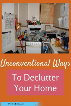 7 Unconventional Ways To Declutter Your Home Are you tired of the clutter? Well, there are some ways you can get rid of it. You might be tired of hearing the same ideas over and over. Declutter Your Home, Organize Your Life, Organizing Your Home, Clutter Organization, Home Organisation, Household Organization, Konmari, Planners, Clutter Control