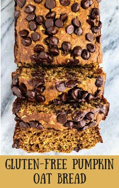 Nutritious Snack Tips For Equally Young Ones And Adults This Healthy Pumpkin Oat Bread Is Naturally Sweetened With Honey, And Is Made From Simple Ingredients Like Greek Yogurt And Oatmeal. This Bread Is Fluffy And Moist And Can Easily Be Made Gluten Free. Healthy Pumpkin Bread, Gluten Free Pumpkin, Gluten Free Baking, Pumpkin Recipes, Gluten Free Recipes, Gourmet Recipes, Baking Recipes, Bread Recipes, Vegan Pumpkin