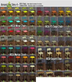 Around The Sims 4: IKEA chairs • Sims 4 Downloads