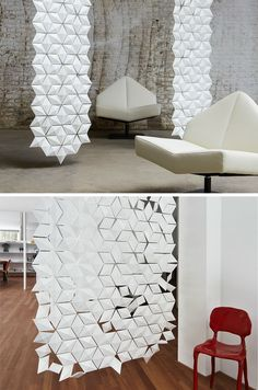 15 Creative Ideas For Room Dividers // Each Of The Diamond Shapes That Make  Up