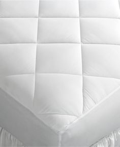 Home Design Mattress Pads, Down Alternative Fiber Fill, Diamond Stitch Quilted Cover, Only at Macy's - Mattress Pads & Toppers - Bed & Bath - Macy's 29.99