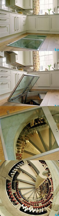 That's right! A wine cellar in the kitchen!