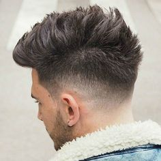 High Taper Fade with Textured Spiky Hair