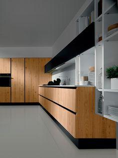 Nueva colección de cocinas Volare de Aran Cucine. Kitchen with minimal lines. FEW materials Good Finishes. Bjad