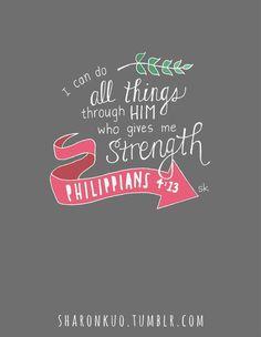 todo lo puedo en Cristo que me fortalece :P