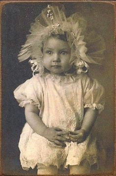 vintage girl child photo post card