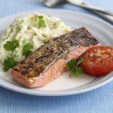 Spiced Salmon With Coriander Mash
