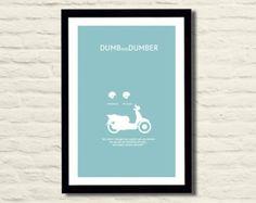 Dumb and Dumber Movie Poster Art Print 11x17, Modern Poster, Home Decor