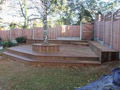 deck on sloped garden